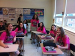 PVI students support Dig Pink® National Breast Cancer Awareness.