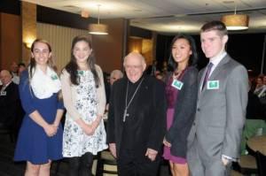 Yes! Award winners, including Paul VI's Angela Bozik (l). PHOTO: Michael F. Flach, Catholic Herald