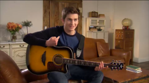 "Matt Brown in Keith Urban's ""Player Guitar Series"" commercial"