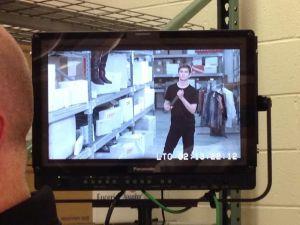 "Matt Brown on set of ""The Black Friday Games"""