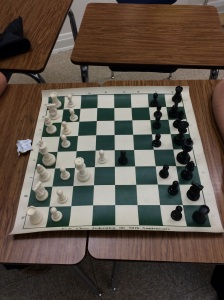 Roughly 10 students meet to face off in weekly chess matches at PVI. [PHOTO: Alex Aguilera]