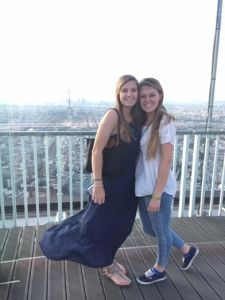 Emily Arnold '17 (l.) and Katie Hogge '16 in France. Courtesy of Liangyan Wang.