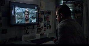 Mark Watney (played by Matt Damon) enters a video log during his mission on Mars. (Image courtesy of 20th Century Fox trailer)