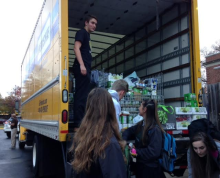 PVI students donate and load truck with canned food donations for Food for Others. PHOTO: Ava Burkat